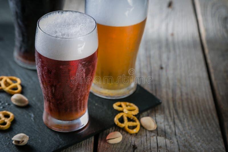 Verschillende types van bier royalty-vrije stock fotografie