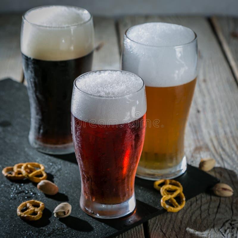 Verschillende types van bier stock foto
