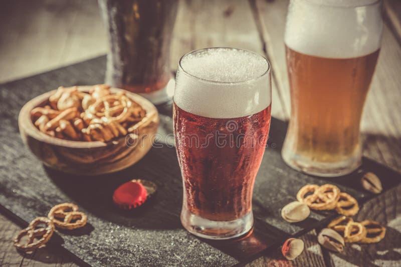 Verschillende types van bier royalty-vrije stock afbeeldingen