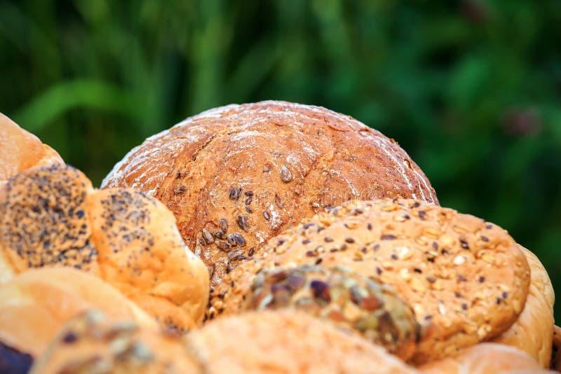 Verschillende types van brood royalty-vrije stock foto's