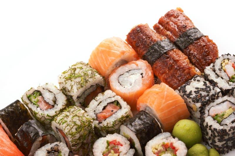 Verschillende types van sushi royalty-vrije stock foto