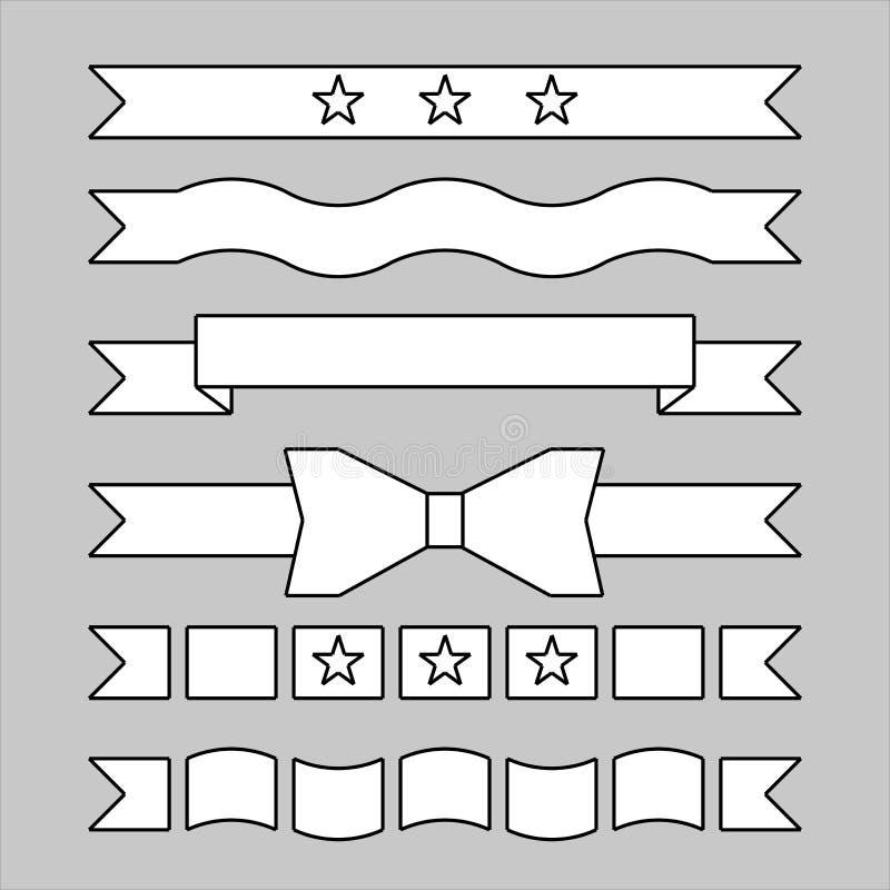 Verschillende vastgestelde modellen van titelband vector illustratie