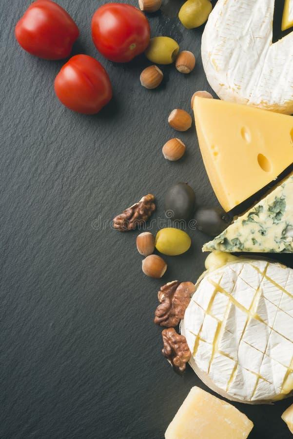 Verschillende verscheidenheden van kaas royalty-vrije stock foto's