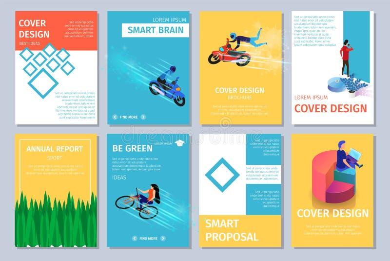 Verschillende Verticale Banners die met Exemplaarruimte worden geplaatst royalty-vrije illustratie
