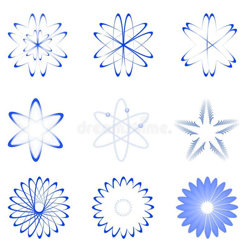 Verschillende vormen van atoom royalty-vrije illustratie