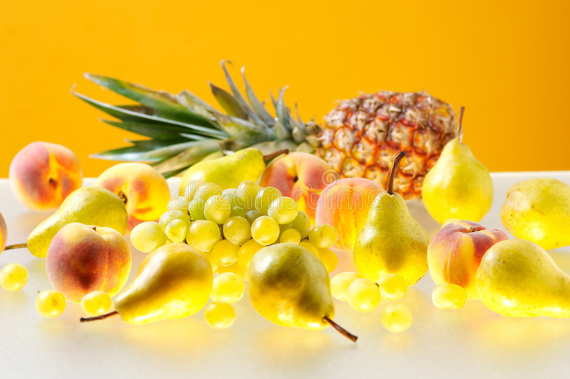 Verschillende vruchten stock afbeelding