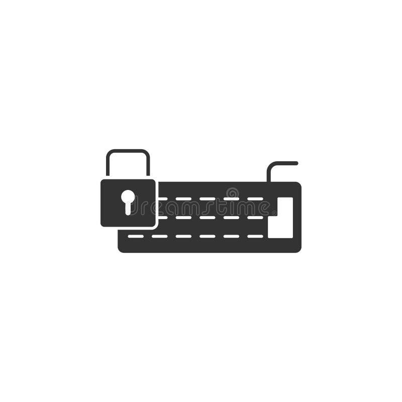 Verschlossene Serverikone Element der Internet-Sicherheitsikone für mobile Konzept und Netz Apps Ausführliche verschlossene Serve vektor abbildung