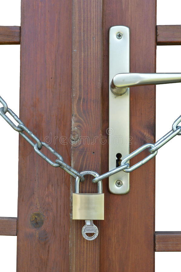 Verschlossene tür  Verschlossene Tür Mit Taste Stockfoto - Bild: 56128692