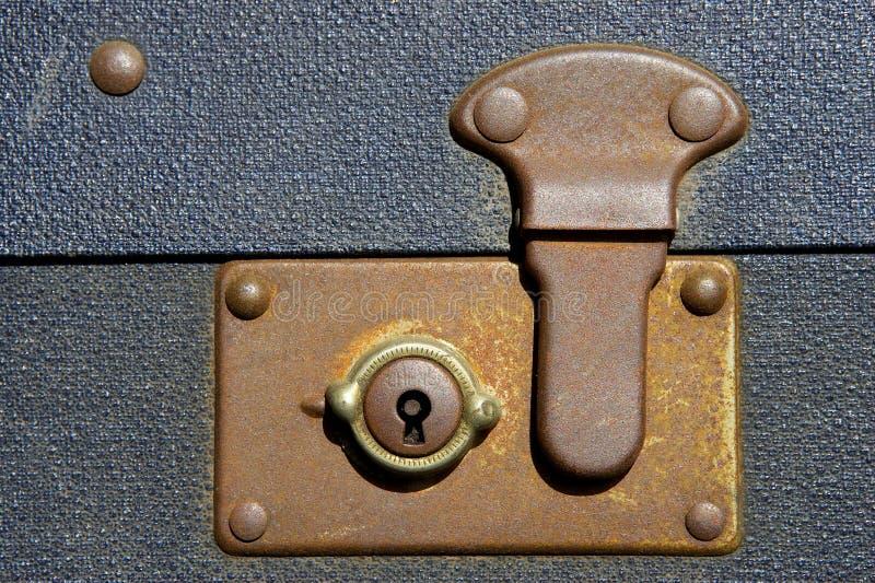 Verschlossener Koffer Stockfotos