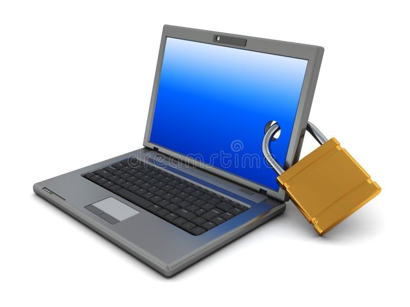 Verschlossener Laptop vektor abbildung