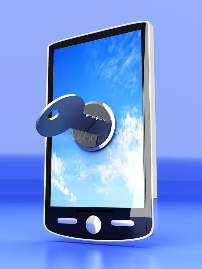 Verschlossenes Smartphone lizenzfreie abbildung