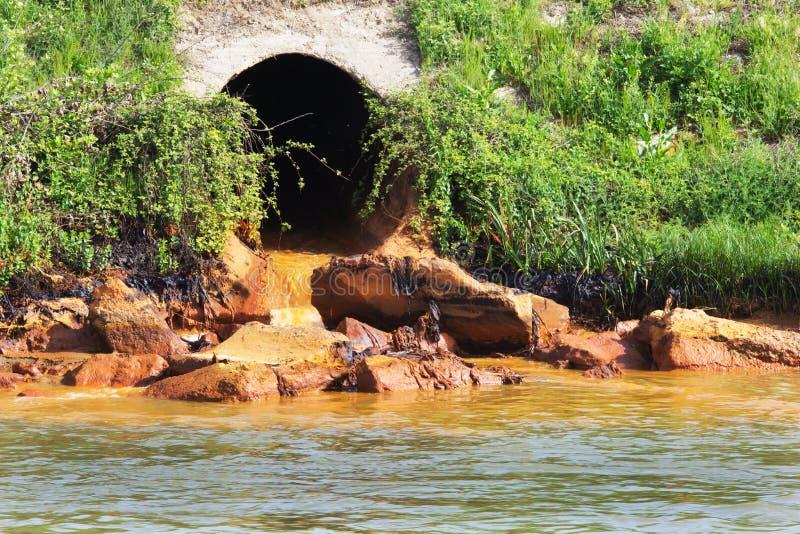 Verschmutzung des Wassers stockfotografie