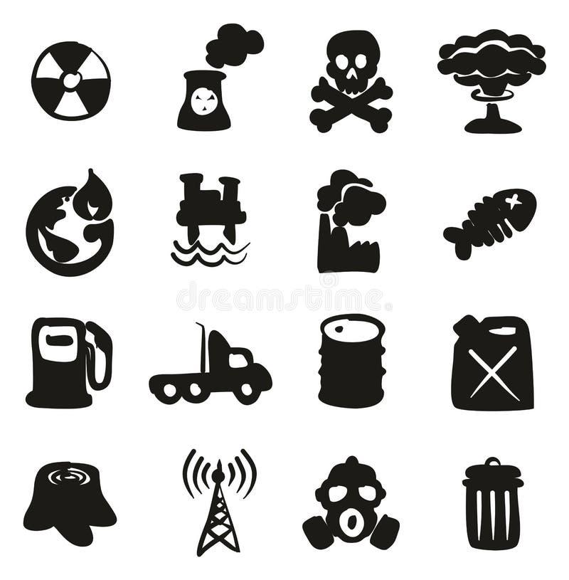 Verschmutzungs-Ikonen-freihändig Fülle stock abbildung