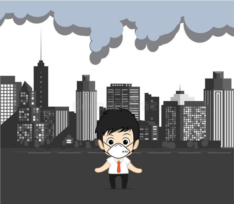 Verschmutzungsluft in der Stadt stockbild