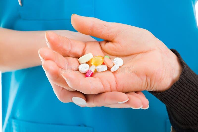 Verschreibungspflichtige Medikamente und Arzneimittel stockbild