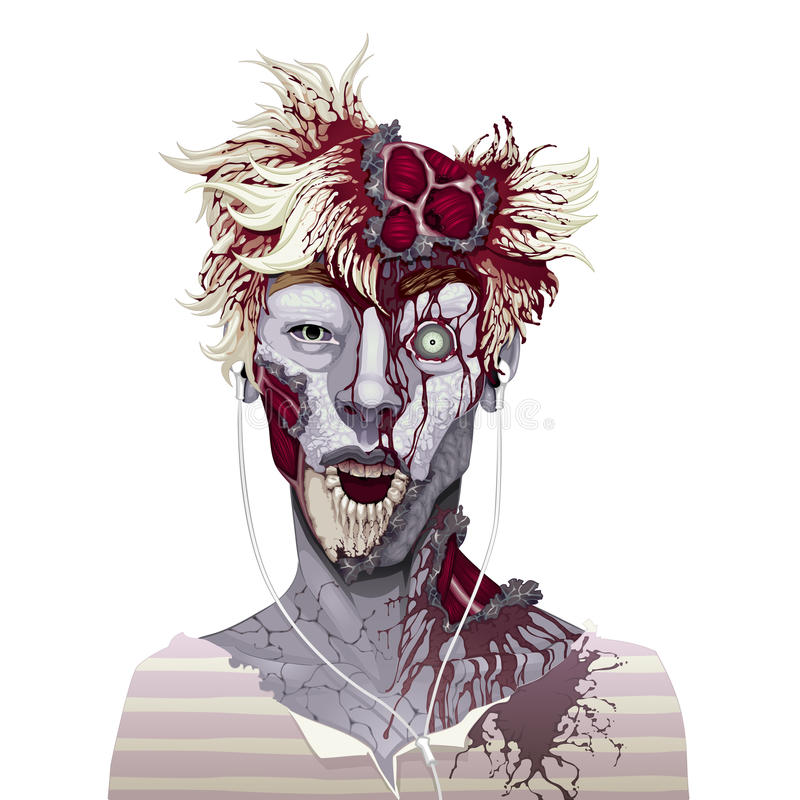 Verschrikking en vectorillustratie stock illustratie