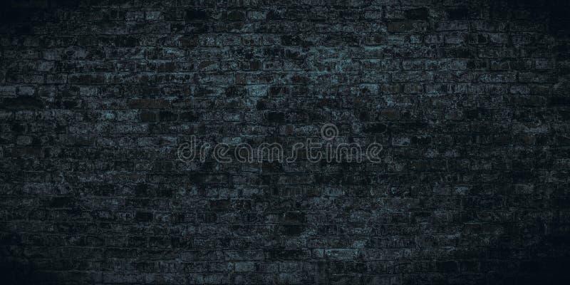 Verschrikking-stijl bakstenen muur Abstracte donkere koude achtergrond voor Halloween-modellen stock foto's