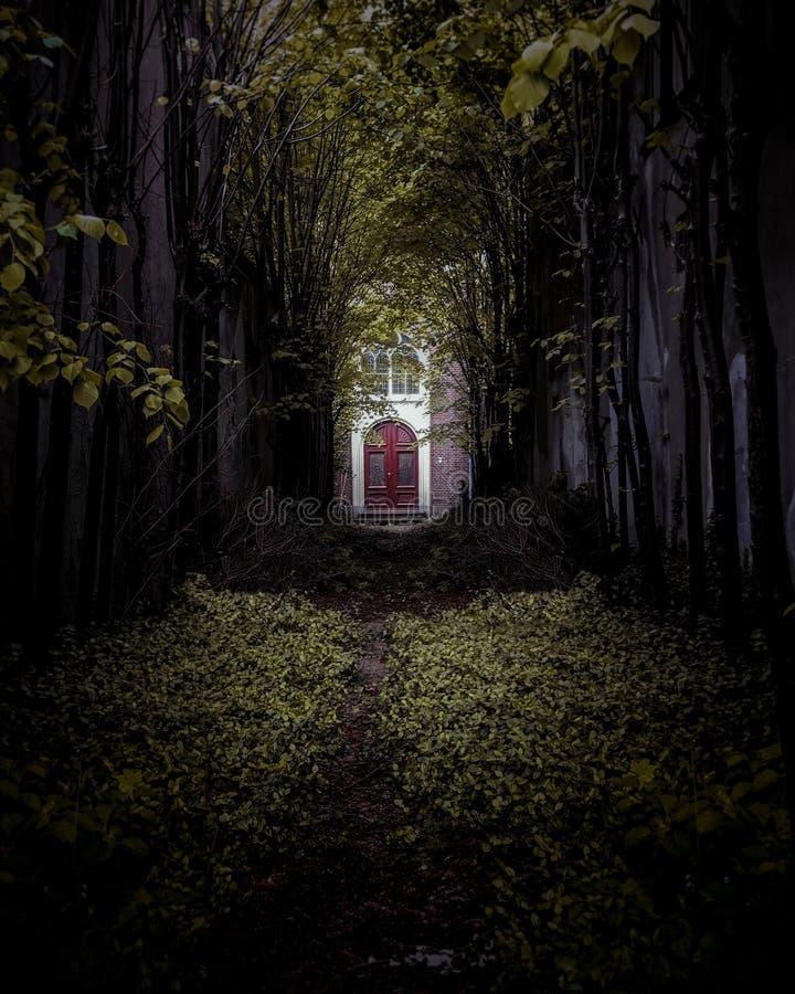 Verschrikkingshuis in het meest forrest in Gouda royalty-vrije stock afbeeldingen