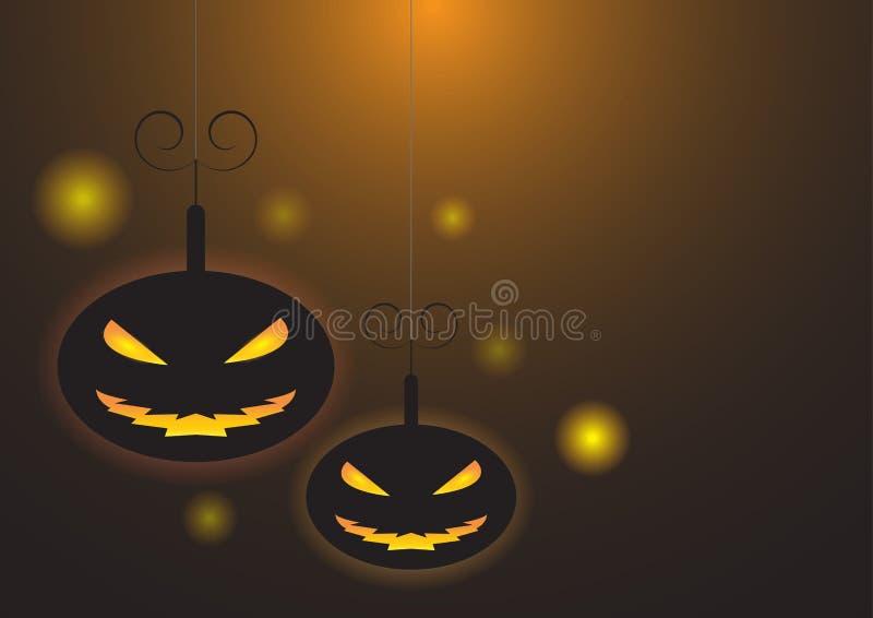 Verschrikkingspompoenen in donkere nacht stock illustratie