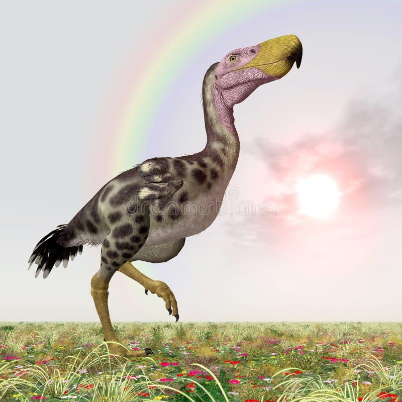 Verschrikkingsvogel Kelenken royalty-vrije illustratie