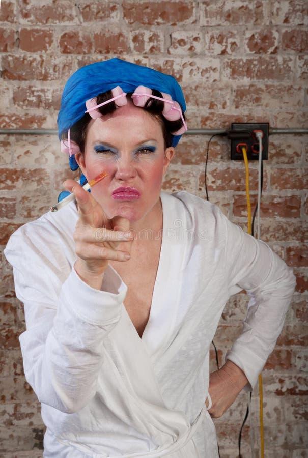 Verschrobe Frau lizenzfreies stockfoto