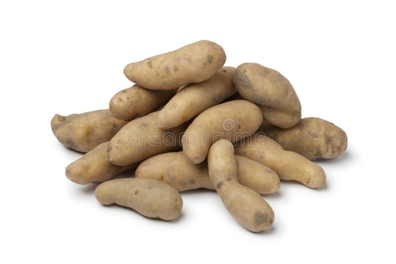 Verse aardappels Ratte stock afbeelding