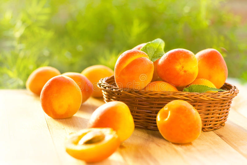 Verse abrikozen stock afbeeldingen