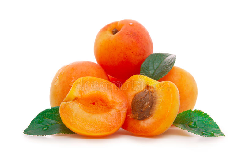 Verse abrikozen royalty-vrije stock afbeeldingen
