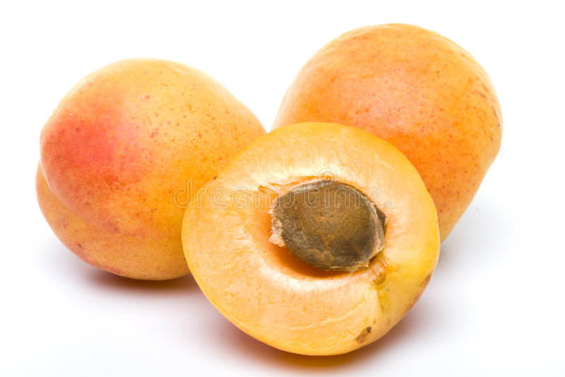 Verse abrikozen stock afbeelding