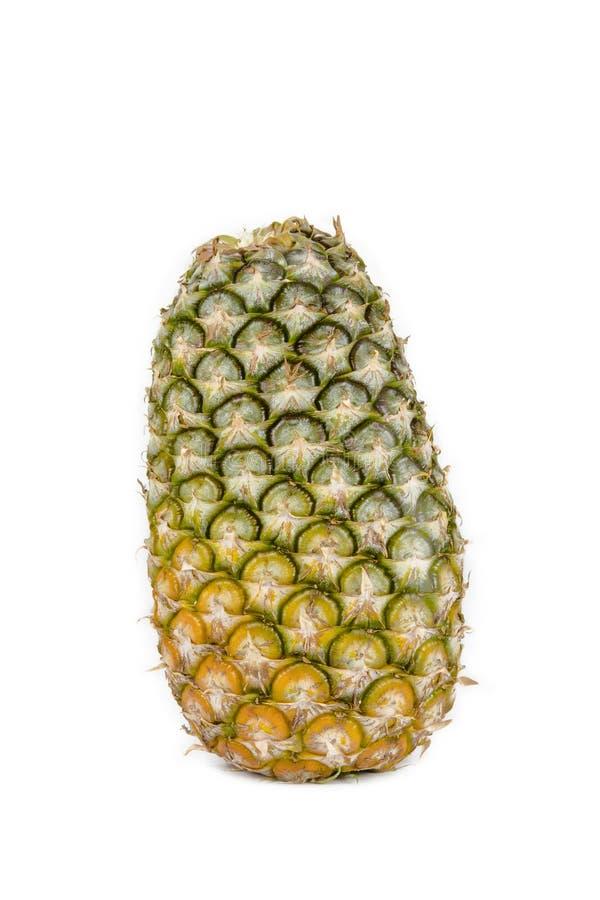 Verse ananas op witte backgound stock foto