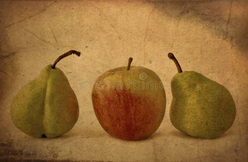 Verse appel en peren royalty-vrije stock foto