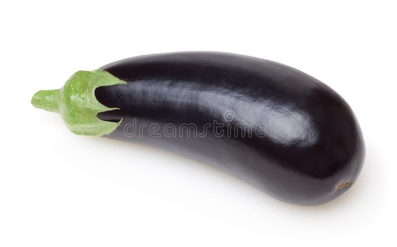 Verse aubergine die op witte achtergrond wordt geïsoleerd? stock foto