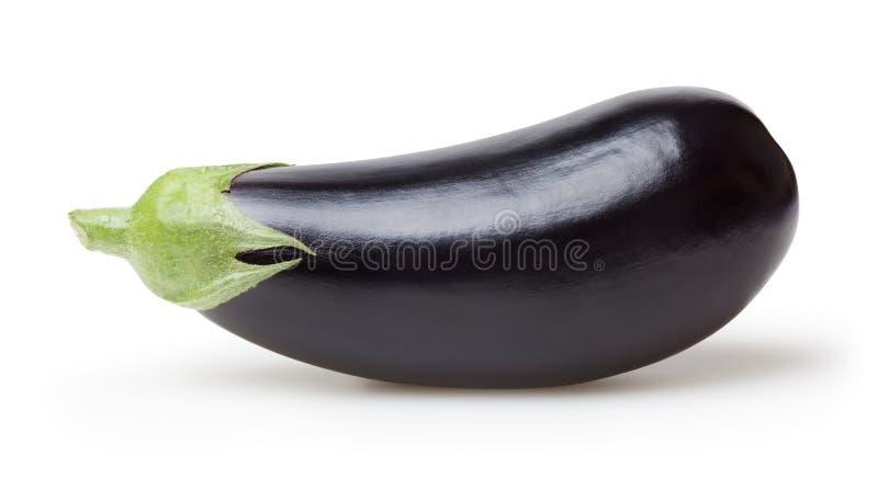 Verse aubergine die op witte achtergrond wordt ge?soleerd? stock foto