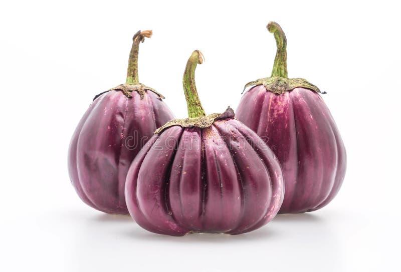 Verse aubergine op wit royalty-vrije stock fotografie
