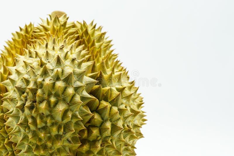 Verse Besnoeiing Monthong Durian op witte achtergrond, close-upmening van Durian, Monthong Durian Monleren riem Mooie Durian Duri stock foto