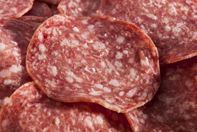 Download Verse Besnoeiings Organische Salami Stock Foto - Afbeelding bestaande uit pepperonis, smakelijk: 29510780