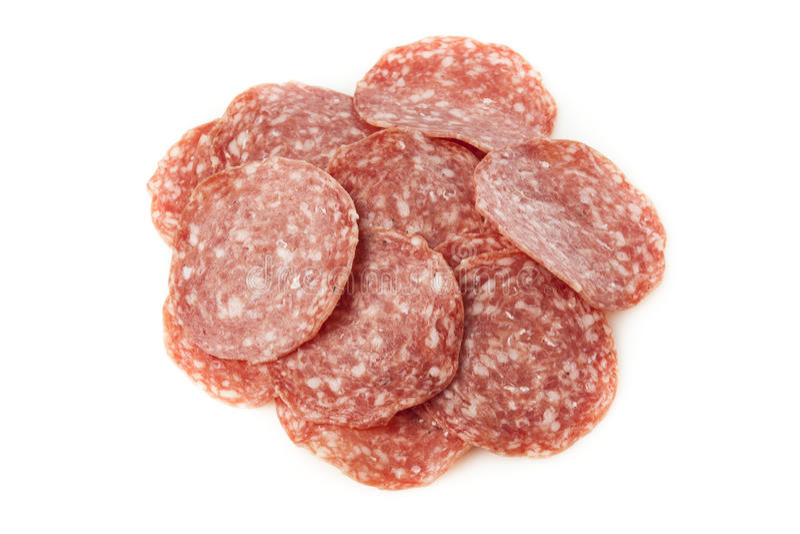 Download Verse Besnoeiings Organische Salami Stock Foto - Afbeelding bestaande uit ingrediënt, vers: 29510964