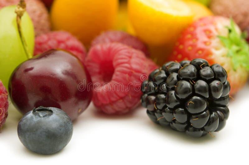 Verse bessen en vruchten royalty-vrije stock afbeelding
