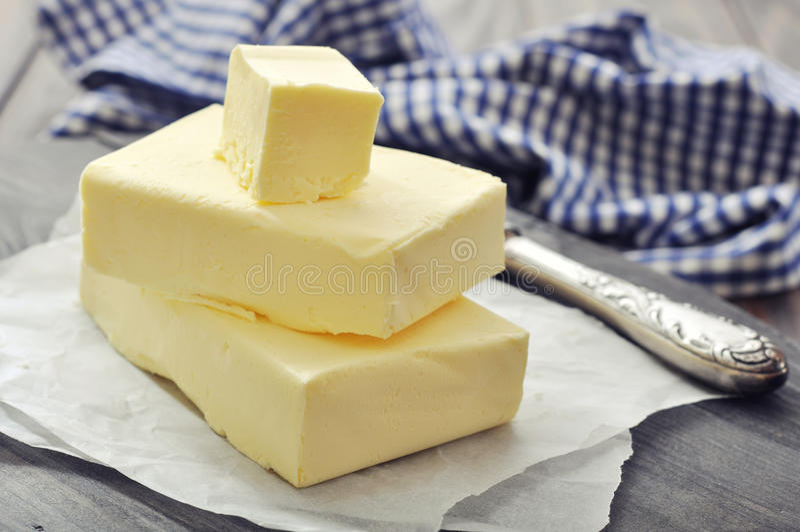 Verse boter stock afbeelding