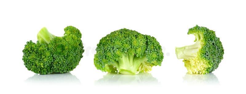 Verse broccoli die op de witte achtergrond worden geïsoleerd royalty-vrije stock fotografie