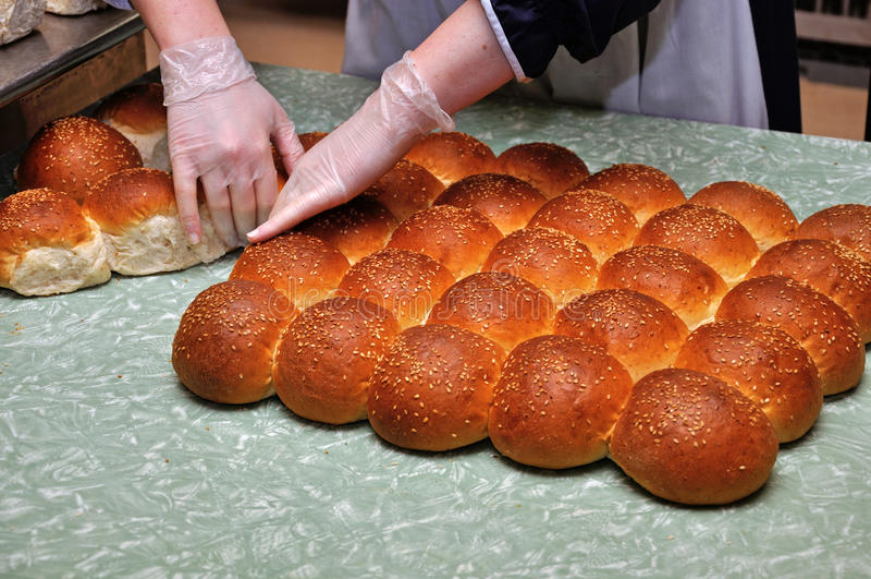Verse broodjes stock foto