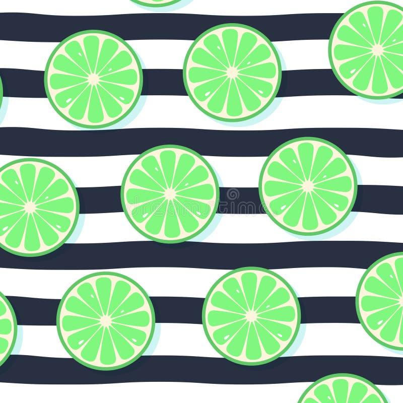 Verse citroenenachtergrond, hand getrokken pictogrammen Kleurrijke behangvector stock illustratie