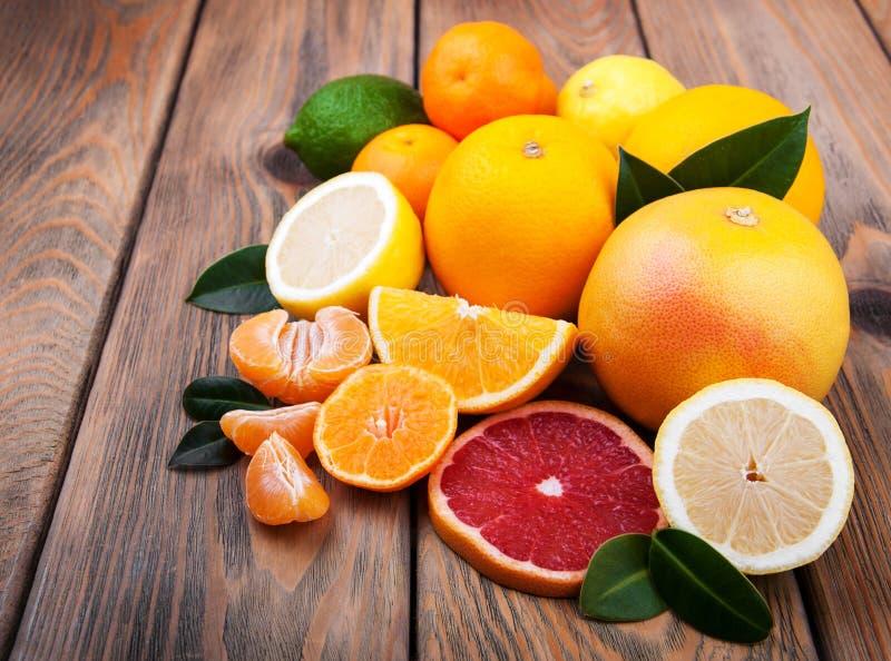 Verse citrusvruchten stock foto