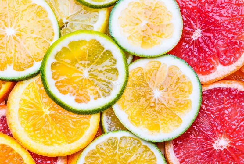 Verse citrusvruchtenachtergrond stock fotografie