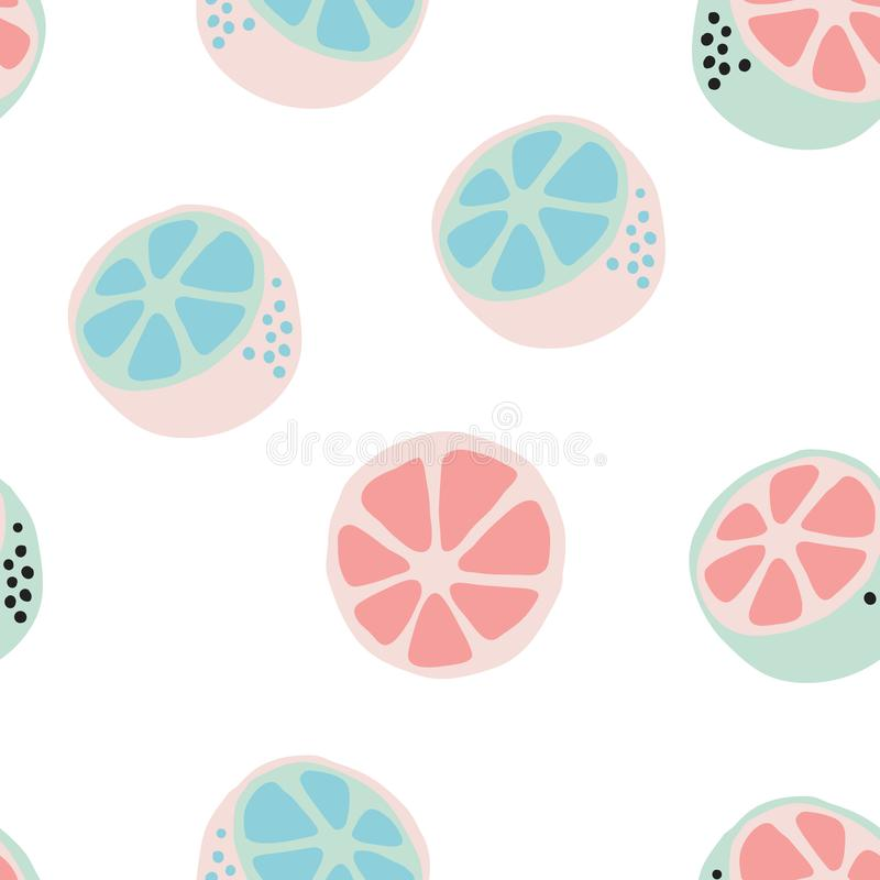 Verse citrusvruchtenachtergrond, vectorillustratie stock illustratie