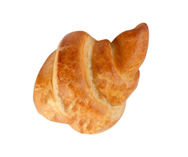 Verse croissant op wit stock fotografie