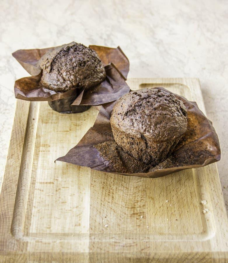 Verse cupcakes zonder room stock foto's