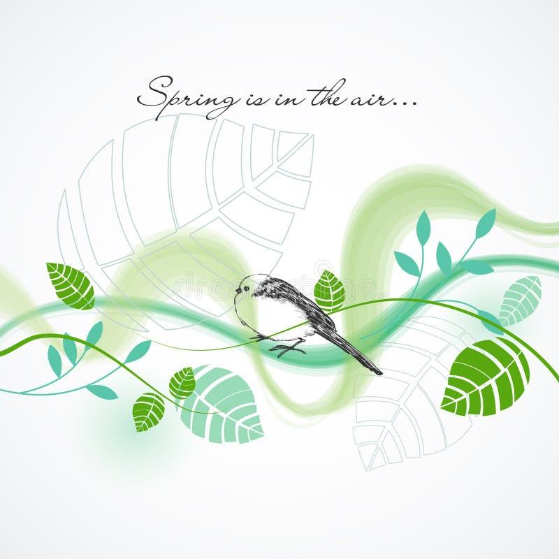 Verse de lenteachtergrond royalty-vrije illustratie