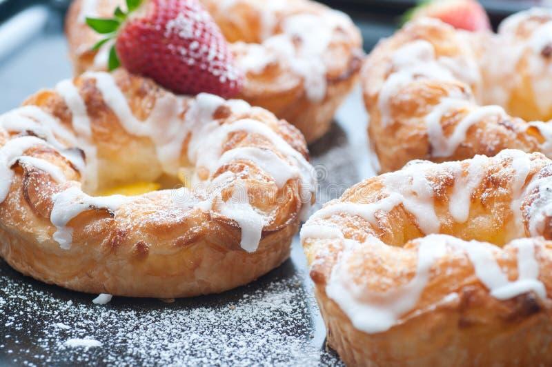 Deens gebakjes stock afbeeldingen