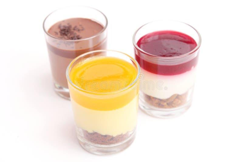 Verse desserts royalty-vrije stock afbeeldingen